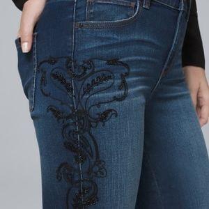 WHBM Skinny Curvy Embellished Jeans Size 12